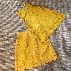 Yellow skirt and top set/skirt size 4/shirt size S